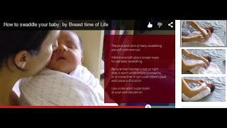 """Visit us at: www.bfclassonline.comBefore using this technique, discuss Baby swaddling with your Pediatrician. Even though this is a technique that has being used for centuries to calm down crying babies, research that shown that, in some cases, it could cause hip dysplasia and increase the risk of SIDS (Sudden Infant Dead Syndrome). Use with caution and under adult supervision at all times.This swaddling is being used for centuries. Most babies benefits from it and help them to feel more relax, fall asleep sooner and comfortable similar to during pregnancy. BREASTFEEDING IS ESSENTIAL TO THE LIFE OF A HUMAN BEING. AS ADULTS WE CAN CHOOSE OUR OPTIONS, OUR BABIES CANNOT. IT IS THE MOTHER AND HER PARTNER WHO MUST MAKE THE RIGHT DECISION ABOUT FEEDING YOUR BABY.Breastfeeding is always the way to go, unless there is a medical condition that does not allow it.Today we have so much information at our fingertips that even though our heart knows what is right, our brain gets confused and does not know how to proceed. Although our intentions may be good, bad information can often make us take the wrong path.In my professional experience, I have noticed that certain normal situations that may arise after birth and/or in the first weeks after leaving the hospital, can often be mistaken as problems by new parents. These obstacles cause the use of alternative feeding methods for an infant, which then turns into a process of situations that just complicates, or even eliminates the possibility of breastfeeding a baby.I also discovered that the more I know, the more I need to know.The more information a mother and family can get before the baby is born, the more successful their decisions will be.I strongly believe that """"Information is power"""". When I know what other people are talking about, I can also suggest trying other alternatives, or wait before taking unnecessary action. This information can allow you to feel like another member of the medical team that will help you and your """