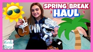 """New clothes, shoes and swimsuit that I got for Spring Break 2017 from Aerie, Aeropostale, JCPenny, Kohls and Target! Enter my Ivory Ella Giveaway - https://youtu.be/FCG3wmTx3GE♥  SUBSCRIBE!   http://bit.do/karlireeseI post new videos every Friday!Watch my last video - https://youtu.be/FCG3wmTx3GE1 Year Ago - https://youtu.be/8PqMTsqiOi8Daily videos at my Our Family Nest - http://youtube.com/ourfamilynestMy Mom's Channel - http://bit.ly/2ffeAACMy Dad's Channel - http://bit.ly/2gh00roAndrew's Channel - I am Drew -  http://youtube.com/iamdrew95♥ FOLLOW ME ♥i  n  s  t  a  g  r  a  mhttp://instagram.com/karlireeset  w  i  t  t  e  rhttp://twitter.com/karlireesem u s i c a l y . l y24_karkar_24f  a  c  e  b  o  o  k http://facebook.com/iamkarlireeseb  l  o  g   http://karlireese.com*************************************************************♥ BUSINESS INQUIRIES ♥mail@ourfamilynest.com - Subject Line """"KarliReese""""*************************************************************Thank you for watching my video today! You can also find me on our family's channel - Our Family Nest.  On my channel you will find more of what I love... shopping, crafts, dance, gymnastics, and my pets…Pretty much anything girly! Thank you for stopping by and I hope you have fun here on my channel.Note... My YouTube channel is monitored and ran by my parents :)♥ Karli ReeseSome Music in videos by Epidemic Sound - http://www.epidemicsound.com"""