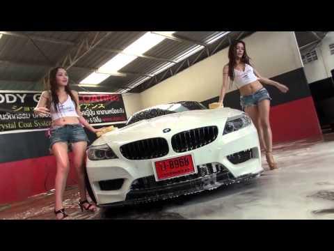 性感辣妹手洗BMW,已經不是洗不洗乾淨的問題了…