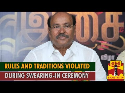 Rules and Traditions Violated During Jayalalithaa s Swearing-in Ceremony   Ramadoss