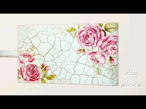 decoupage - decorate a cutting board with cracklè technique