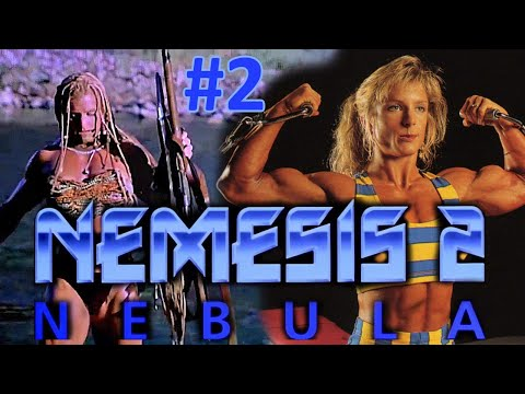 American bodybuilding babe Sue Price in Nemesis 2: Nebula. Part #2