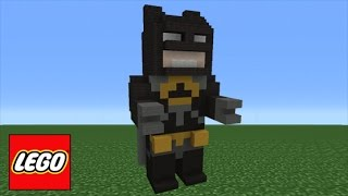 Minecraft Tutorial: How To Make Lego Batman (The LEGO Batman Movie)