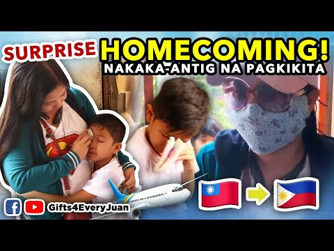 SURPRISE HOMECOMING NG OFW NANAY FROM TAIWAN TO TRECE MARTIREZ CAVITE!
