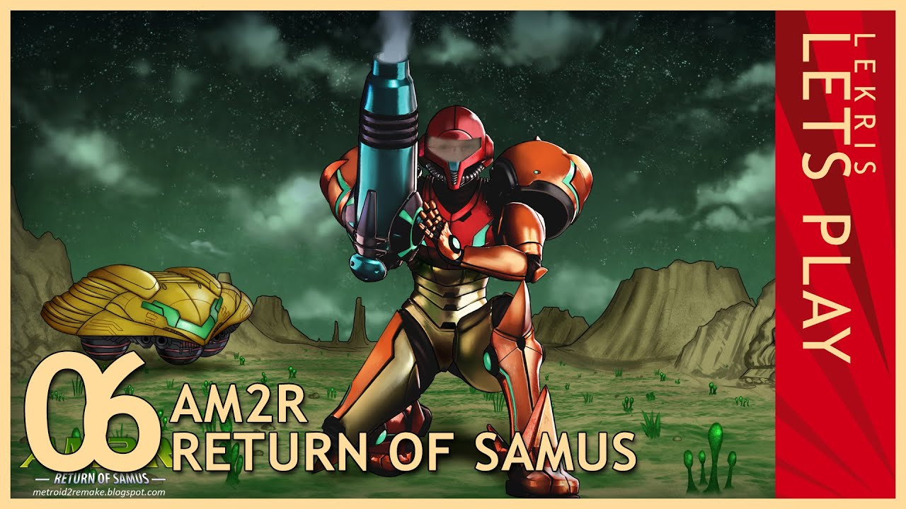 Let's Play AM2R - Return of Samus 1.0 Full Version #06 - Hydro Station - Gamma Metroid - Vario Suit