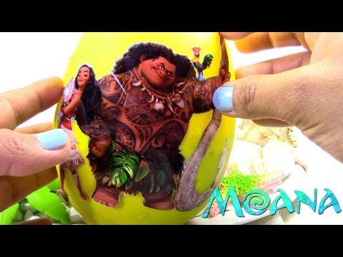Huevo Sorpresa Gigante de Moana o Vaiana y Hei Hei de Plastilina Play Doh en Español