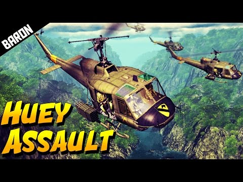 Heliborne Bell UH-1 Huey - American...