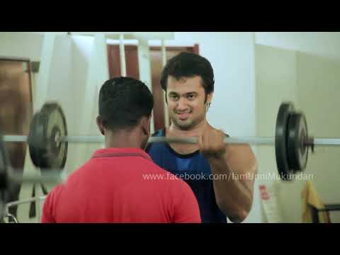 Unni Mukundan Work Out Video in Gym