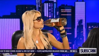Paris Hilton Drinks Her First 40oz Beer - GGN News: S4 Ep. 5