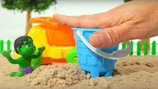 Video BABY HULK PLAYS WITH SAND ❤ Frozen Elsa & Superhero Babies Play Doh Cartoons For Kids MP3, 3GP, MP4, WEBM, AVI, FLV September 2018