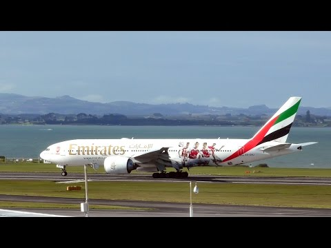 Arsenal F.C. Livery ✈ Emirates 777-200LR Landing At Auckland Airport