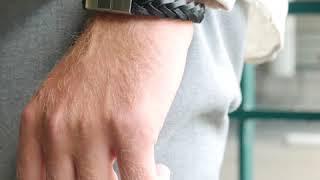 Sem Lewis Bakerloo Paddington leren armband zwart