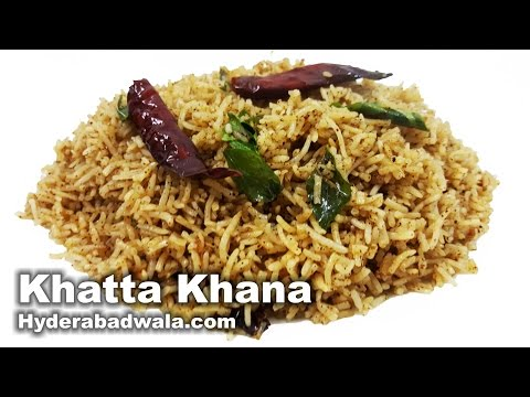 Sour Rice Recipe Video – How to Make Hyderabadi Khatta Khana at Home – Easy & Simple