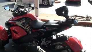 10. 2009 CAN AM SPYDER 3 WHEEL MOTORCYCLE FOR SALE SEE WWW SUNSETMILAN COM
