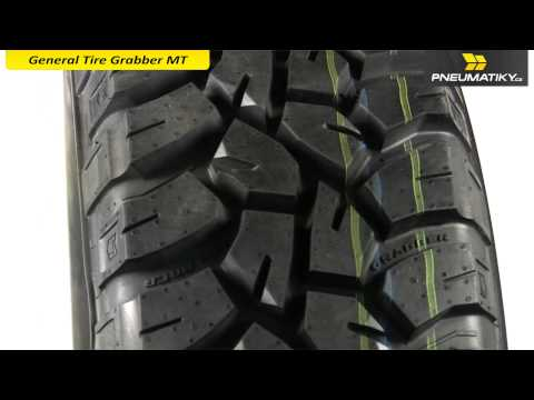 Youtube General Tire Grabber MT 33/12,5 R15 108 Q FR Terénní