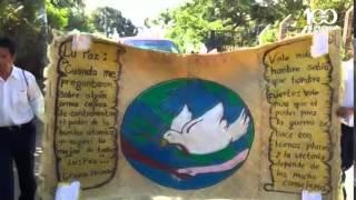 Realizan marcha por la no violencia en Nahuizalco