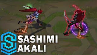 Chi tiết hình ảnh bộ trang phục mới Akali Hải Sản (Sashimi Akali)