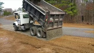 Video Reverse Drop Spreading Gravel from Dump Truck! This guy is good!! MP3, 3GP, MP4, WEBM, AVI, FLV Agustus 2017