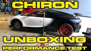 Bugatti Chiron Unboxing, Delivery, Revs, Wheel Change and Performance Testing! by DragTimes