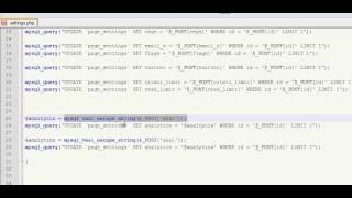 PHP Tutorials - MySQL Update