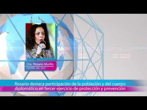 Rosario destaca participación de la población y del cuerpo diplomático en tercer ejercicio de protección y prevención