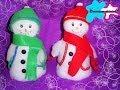 Bolos o dulceros de muñequitos de nieve  - YouTube