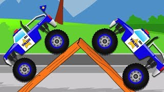 Video Rakasa Truk Stunts   Permainan anak video   Transportasi untuk anak   Monster Truck Stunts MP3, 3GP, MP4, WEBM, AVI, FLV Juni 2018