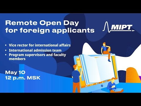 MIPT Remote Open Day for foreign applicants