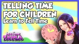 Telling Time for Kids, How to Tell Time, Tea Time with Tayla