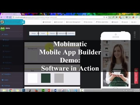 Mobimatic Demo – Mobile App Builder Software in Action