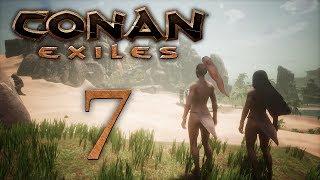 Conan Exiles — прохождение игры на русском — Первая пещера, больно [#7] | PC