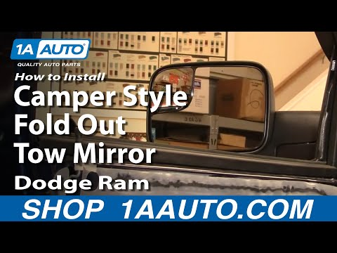 How To Install Repair Replace Camper Style Fold Out Tow Mirrors Dodge Ram 02-08 1AAuto.com