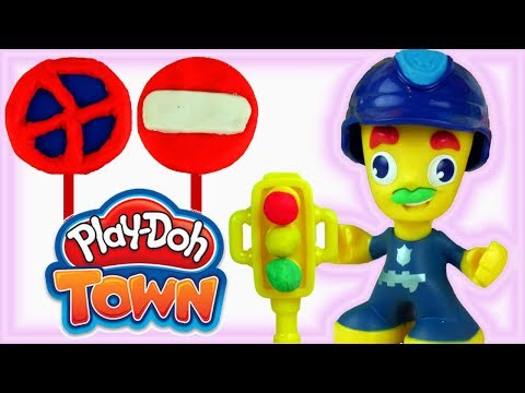 Play Doh Town • Policja !!! • Znaki Drogowe i Sygnalizacja Świetlna • bajki i kreatywne zabawy