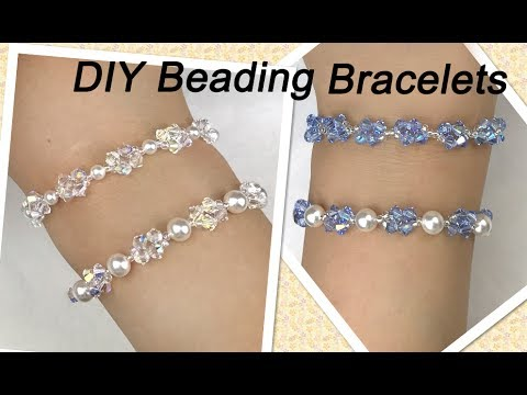 Easy DIY Beading Bracelets with Swarovski Pearls and Swarovski Crystal Bicone Beads