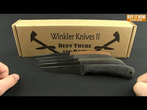 "Winkler Knives WKII Operator Fixed Blade Knife Rubber (4"" Caswell)"