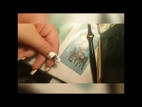 Bts nail art (bulletproof RM)