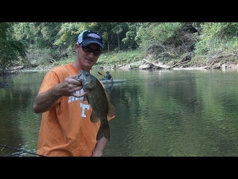 Tennessee Smallmouth Kayak Bass Fishing | Red River October 2013