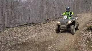 10. #22 Polaris Sportsman 450 HO ATV Climbing Black Trails Majestic Lost Trails
