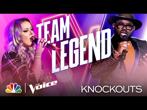 """Cami Clune and John Holiday's """"Unbelievable"""" Performances - The Voice Knockouts 2020"""