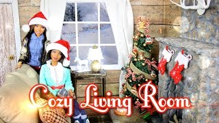 How to Make a Cozy Doll Living Room & Realistic Fireplace | Plus AG Doll of the Year Winners - YouTube