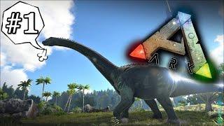 Ark Survival Evolved #1 - คนบ้าบุกป่าไดโนเสาร์ Ft.OpzTv (อัพใหม่)