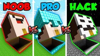 Minecraft NOOB vs. PRO vs. HACKER: HEAD BASE CHALLENGE in Minecraft! (Animation)