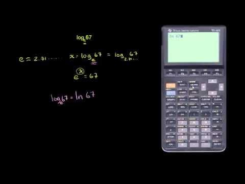 اللوغاريتم الطبيعي باستخدام الآلة الحاسبة