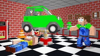 FIXING CARS In MINECRAFT!
