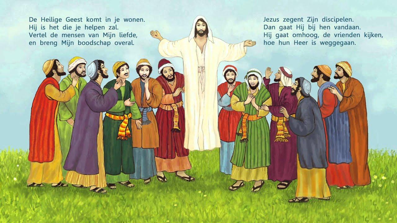 Kinderverhaal: Jezus gaat naar de hemel