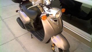 2. 2009 Yamaha Vino 125 review with cargo box