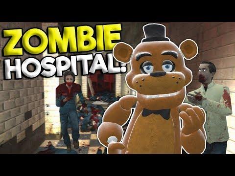 Garrys Mod - ZOMBIE APOCALYPSE SURVIVAL AT A HOSPITAL! - Garry's Mod Roleplay Gameplay - Gmod FNAF Survival