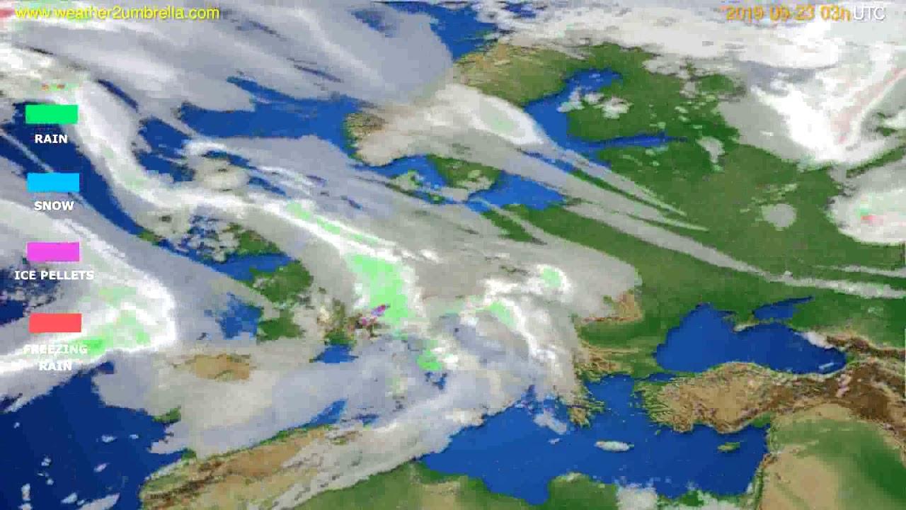 Precipitation forecast Europe // modelrun: 00h UTC 2019-09-20