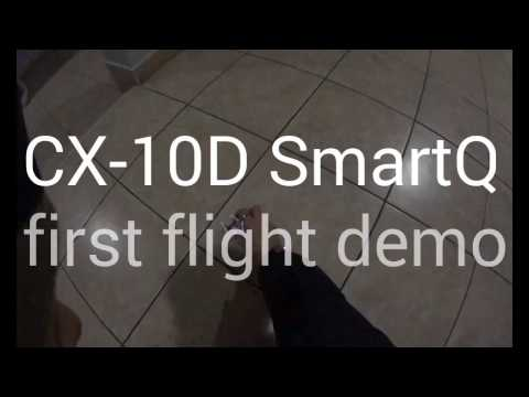 CX-10D SmartQ : first flight demo (indoor)
