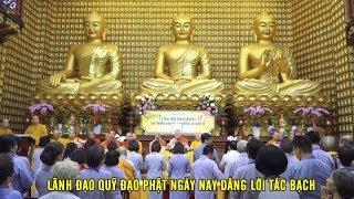 Lãnh đạo quỹ Đạo Phật Ngày Nay dâng lời tác bạch ngày 31-03-2019